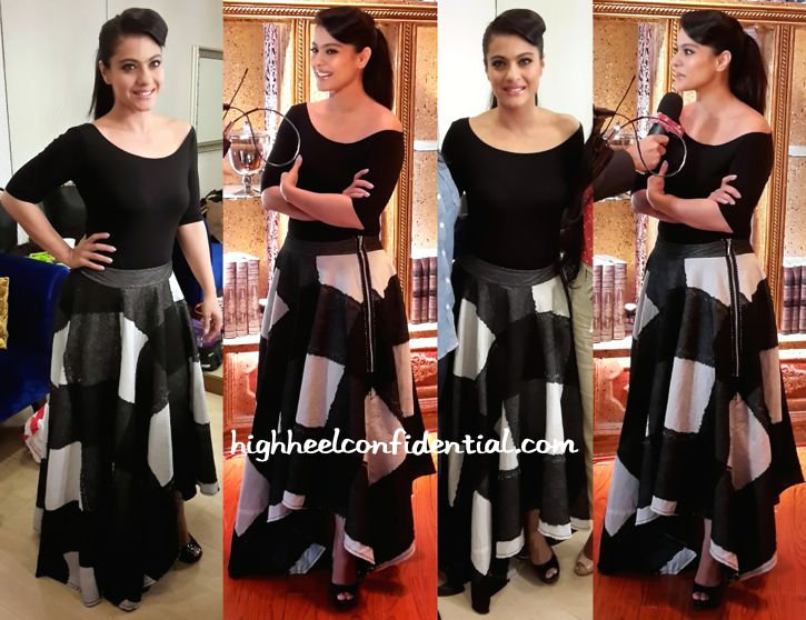 kajol in abraham and thakore at anupam kher's show
