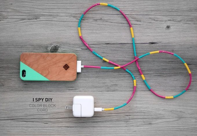 Kiva idea I Spy DIY: MY DIY | Color Block Cord