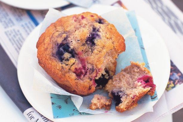 Raspberry & blueberry muffins