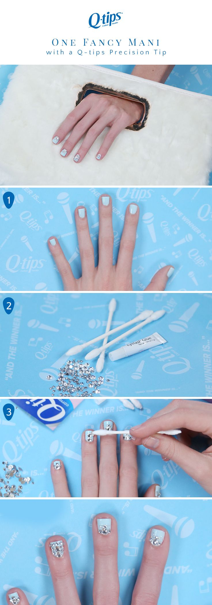 Your mani will look so fancy with this nail art tutorial! Start with two  coats