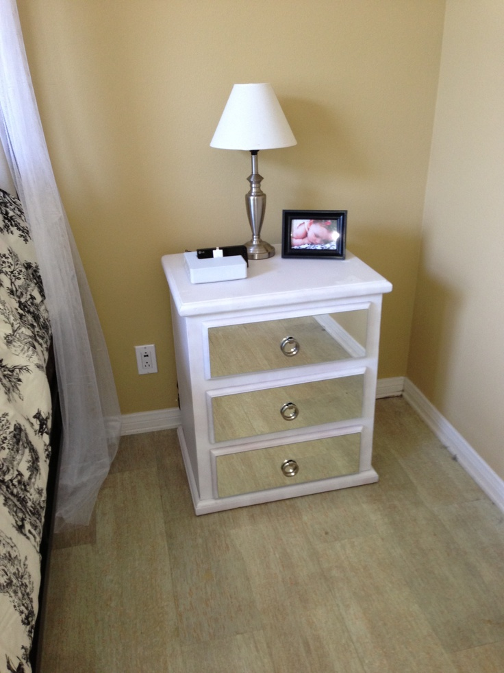 Diy mirror dresser bedroom pinterest diy mirror for How to make a mirrored nightstand diy