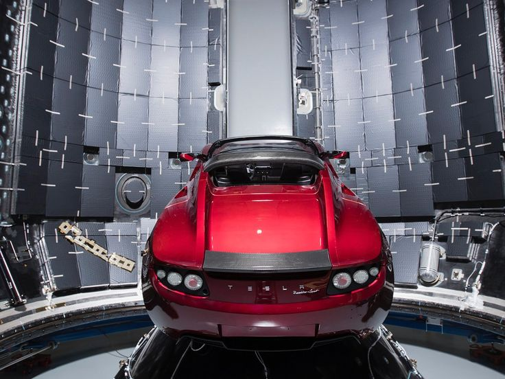 Elon Musk is launching a Tesla Roadster to Mars orbit — and he just posted an Instagram photo to prove it