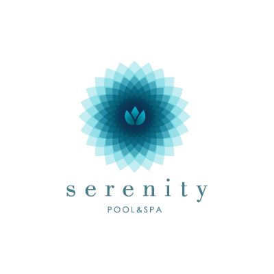 Serenity pool & spa | Logo Design Gallery Inspiration | LogoMix