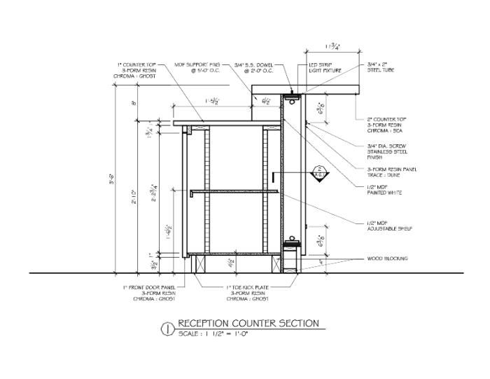 Restaurant Design And Construction : Bar counter detail drawing google search arch design