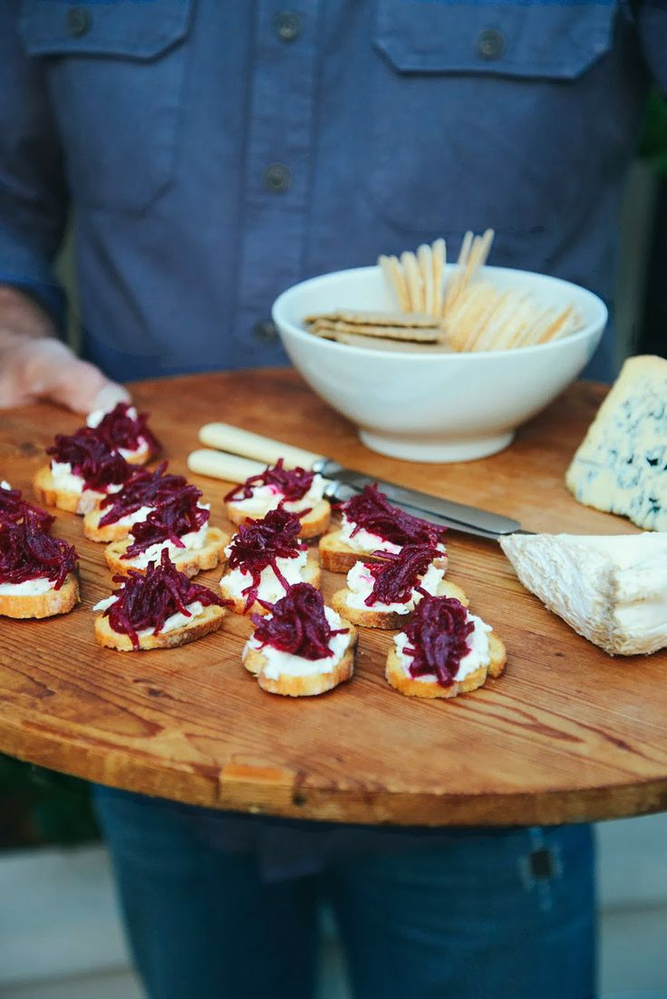 From The Kitchen: Crostini with Soft Goat Cheese & Beetroot Confit