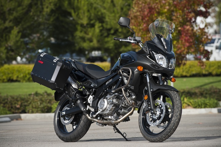 Suzuki V-Strom 650 Adventure...prettiest ugly bike in the world. Totally want.