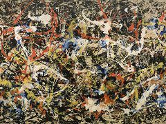 "#6. ""Convergence"", Jackson Pollock (Abstract Art, 1952, Oil/Drip Painting)"