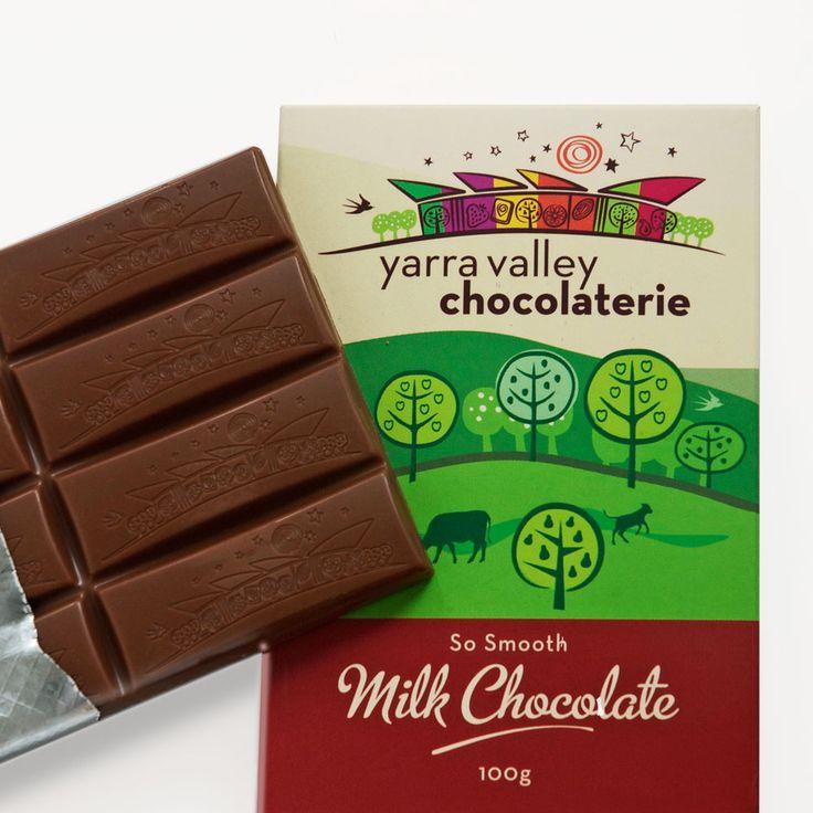 Chocolate bar showing brandmark imprint.