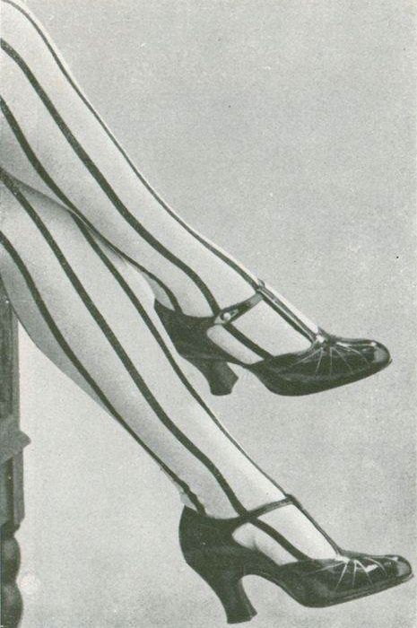 Silk stockings from Bouvier Frères, Les Modes July 1922. Photo by Henri Manuel. Stockings for Mathilde.