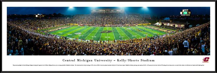 Central Michigan University Chippewas Football Panoramic Picture - Kelly/Shorts Stadium - Standard Frame $99.95