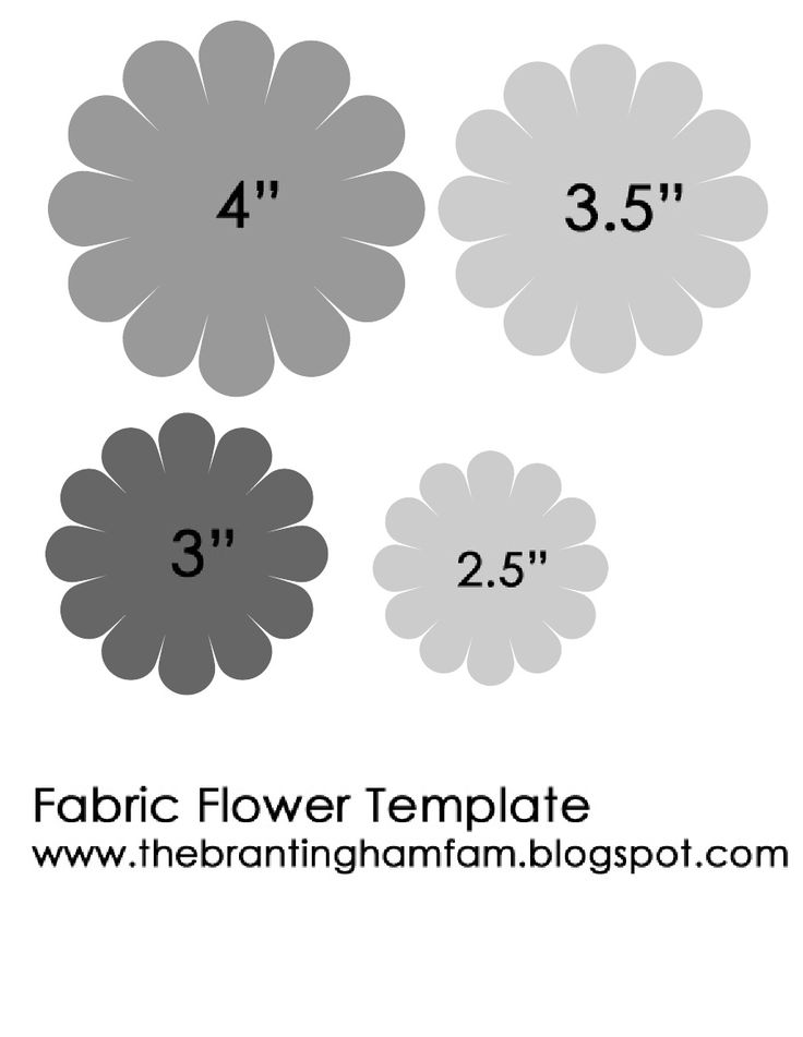 Fabric Flower Template