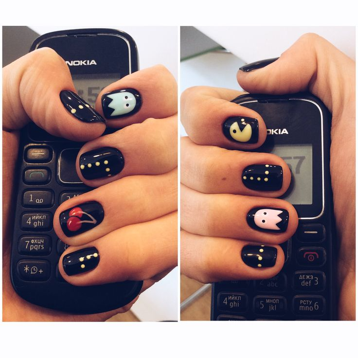 The 25 best pac man nails ideas on pinterest mens nails men shellac pac man nail art prinsesfo Image collections