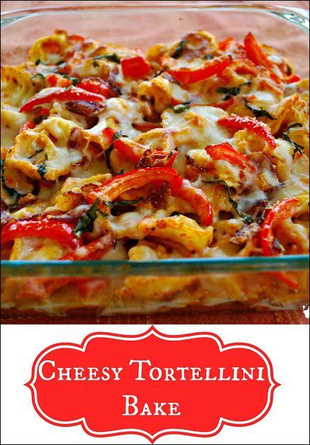 Cheesy Tortellini Pasta Bake