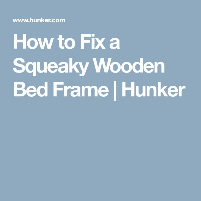 Squeaky Wooden Bunk Bed