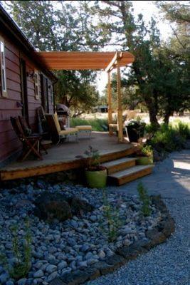10 best images about mobile home porch ideas on pinterest for Double wide porch ideas