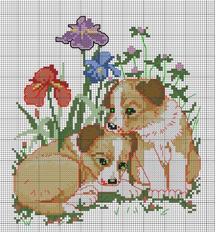 197 best point de croix chien images on Pinterest | Punch needle patterns, Punto croce and Cross ...