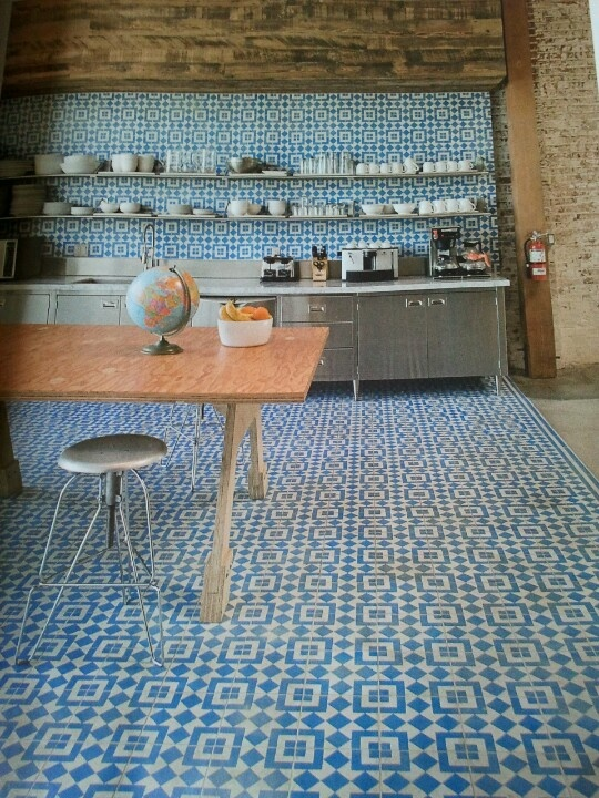 Kitchen tiles, elle deco