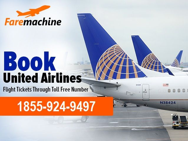 You can book your flight tickets on call, Just Call at the toll free number 1855-924-9497 and get United Airlines Reservation. On the toll free number you will get best flight deals and discount. You may also book your flight tickets in United Airlines or to other Airlines visit this website.