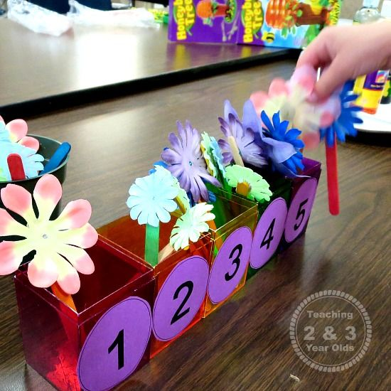 preschool math flower counting