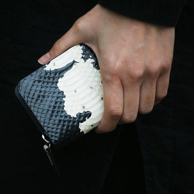 Fancy - The Crow Python Zip Wallet by Via Watt