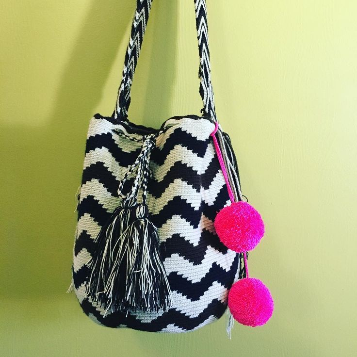 It's time to adorn your bags. Pompom accessories are available (limited quantities) buy through message here! #pompombag #pompom #pompoms #handbag #wayuu