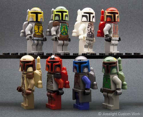 LEGO Star Wars Custom Mandalorian Minifigs by Arealight Custom Works
