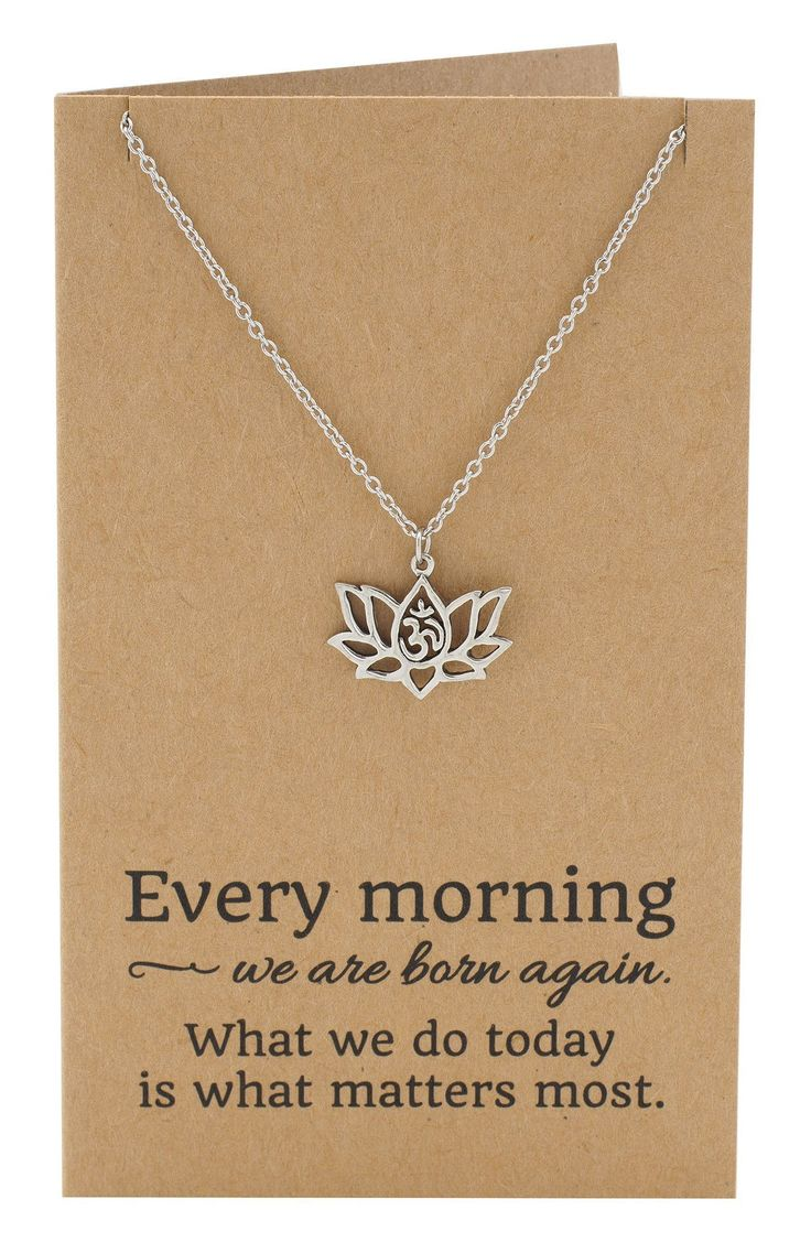 Amara Yoga Jewelry, Om Lotus Flower Necklace for Women, - Quan Jewelry - 7