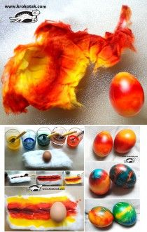 A new way to color eggs for Easter