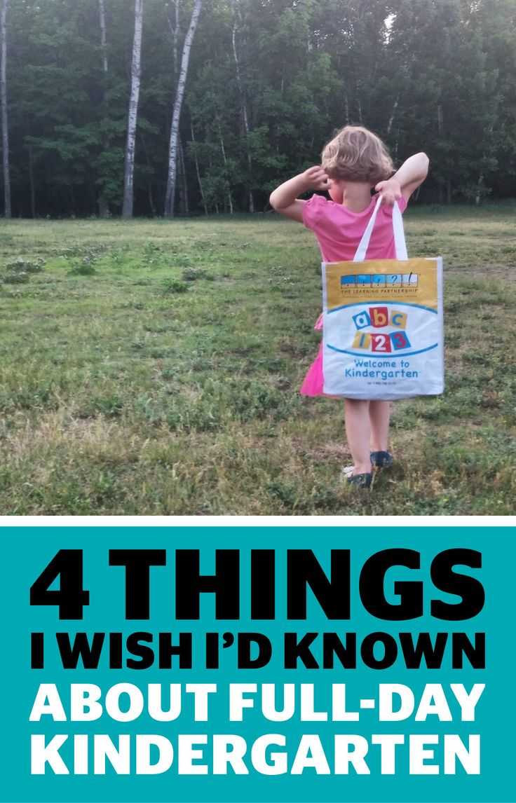 Full-day kindergarten is a big step. Here's our blogger Jen's take on what she wish she knew. #backtoschool #kindergarten