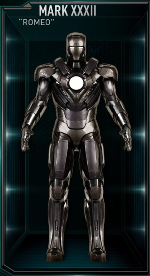 "Iron Man Movie Armors: MARK XXXII ""Romeo"" (Enhanced Power Output, enlarged Unibeam)"