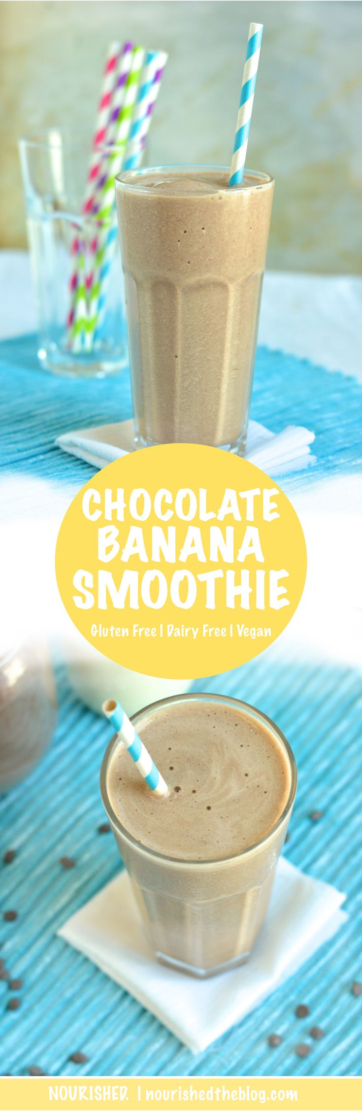 A tasty chocolate banana smoothie recipe made with bananas, milk, cocoa powder and honey. Like a chocolate milkshake - but better! Get the recipe now!