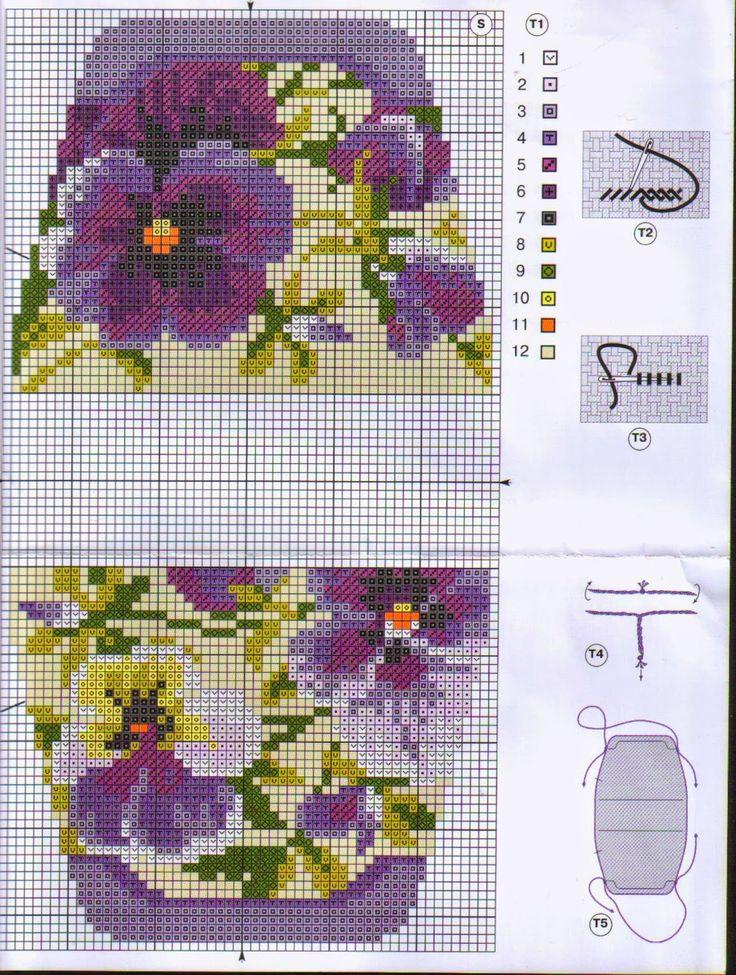 Схема игольницы с вышивкой скачать