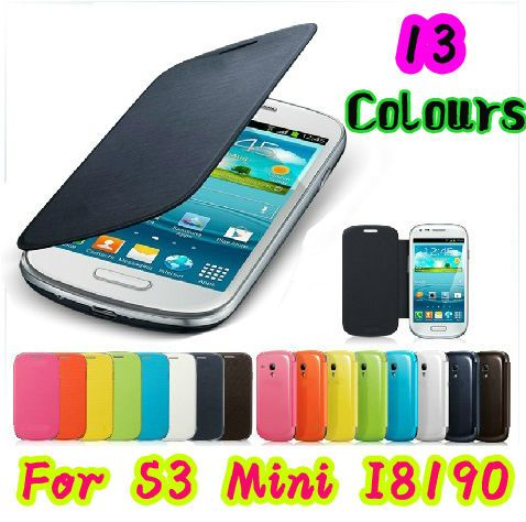 For Samsung Galaxy S 3 S3 SIII Mini i8190 8190 Flip Leather Back Cover Case Original Battery Housing Cases Protector Holster #clothing,#shoes,#jewelry,#women,#men,#hats,#watches,#belts,#fashion,#style