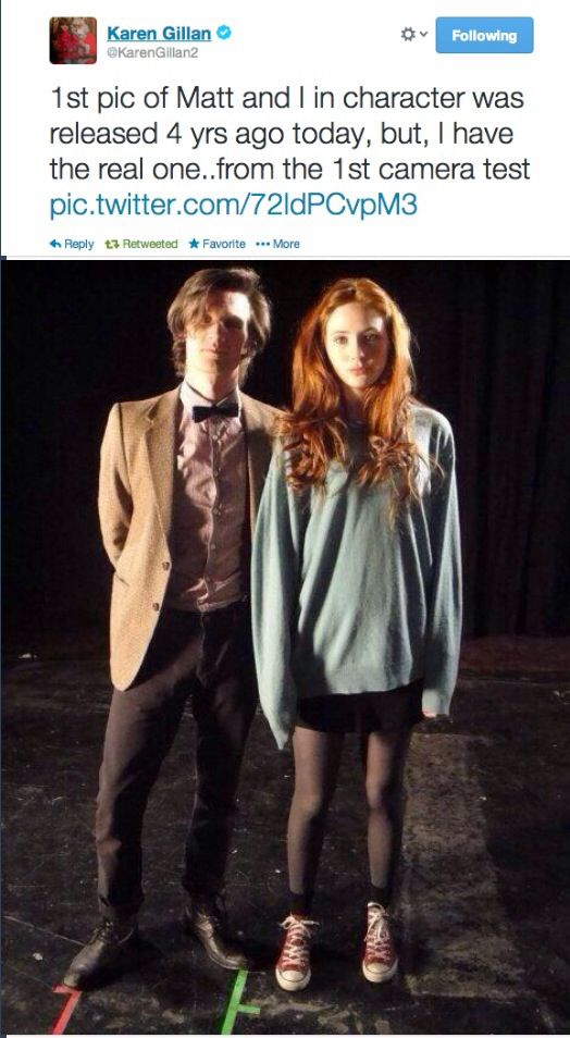 Here's The First Ever Picture Of Matt Smith And Karen Gillan In Costume