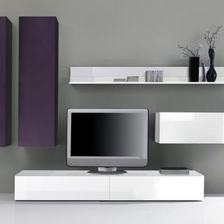 Modern Wall Unit TV Media Entertainment Center Jetset-308 - $2,850.00 - Modern Wall Unit TV Media Entertainment Center Jetset-308 is made in Italy by LC Mobili. Please contact our office about details on customization of this wall unit.