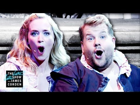 James and Emily Blunt perform an abridged version of the William Shakespeare classic love story through 14 pop songs