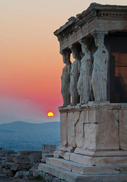 A temple dedicated to me in Athens  TEMPLE of ATHENA NIKE - the Caryatids