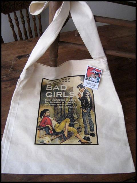 Light weight  Bad Girls  cotton tote Bag by Curlytees on Etsy