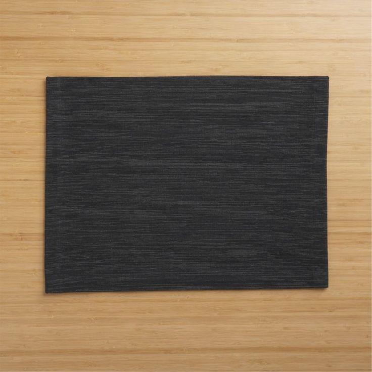 Grasscloth Black Placemat  | Crate