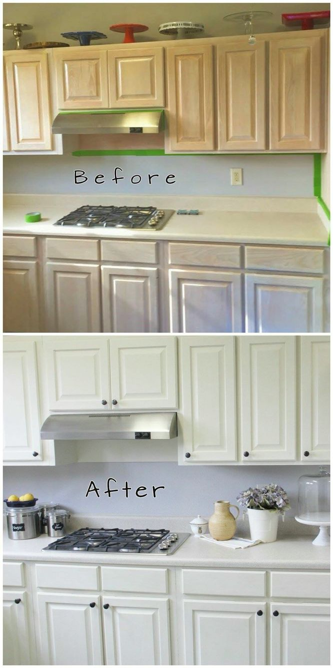 Annie Sloan Kitchen In Old White Before And After Home