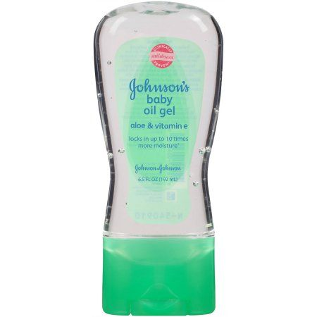 Johnson's Baby Oil Gel with Aloe Vera and Vitamin E, 6.5 Oz, $03.92 (60.3¢ / fl oz); 6.5-fluid ounce squeeze bottle of concentrated baby oil gel; Helps provide extra moisture for dry, rough skin; Formulated for babies and great for relieving your rough patches; Made with pure mineral oil, aloe vera, and Vitamin E; Locks in up to 10 times more moisture than regular lotion; Clinically proven mild and gentle on your baby's skin; Dermatologist and allergy-tested brand; (Image 1 of 4);