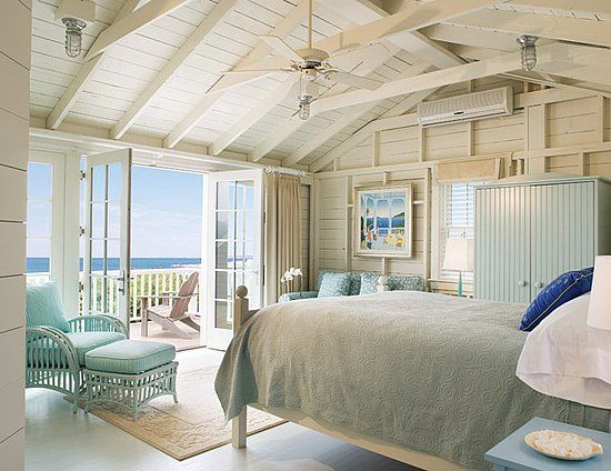 coastal bedroom - ceiling, walls