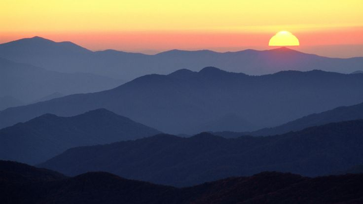 Download Background - Great Smoky Mountains at Sunset ...