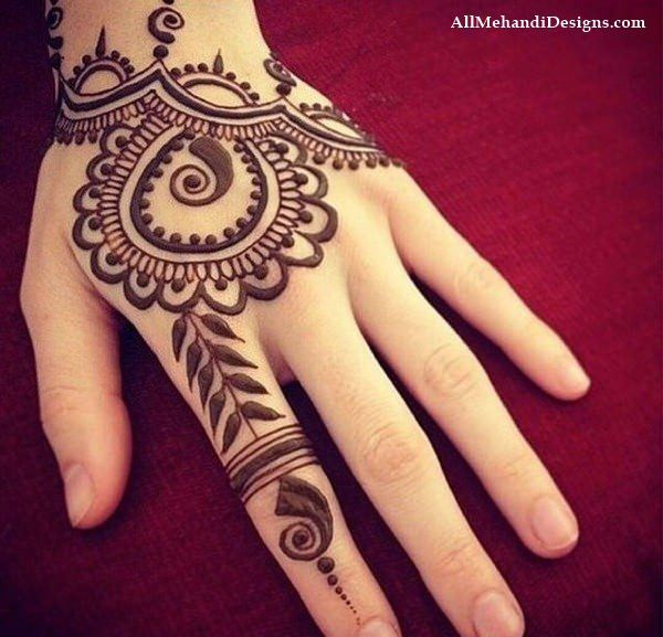 Easy Mehndi Designs for Hands for Kids