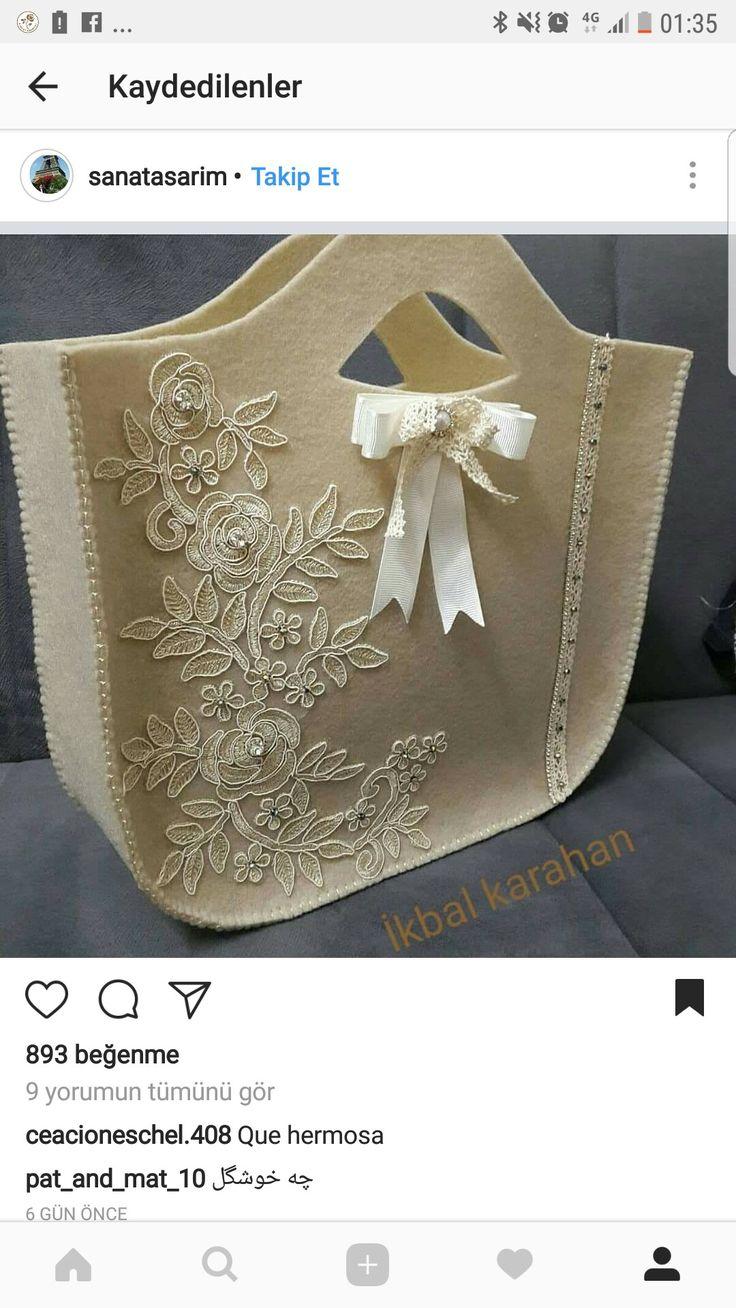 Güpürlü çanta
