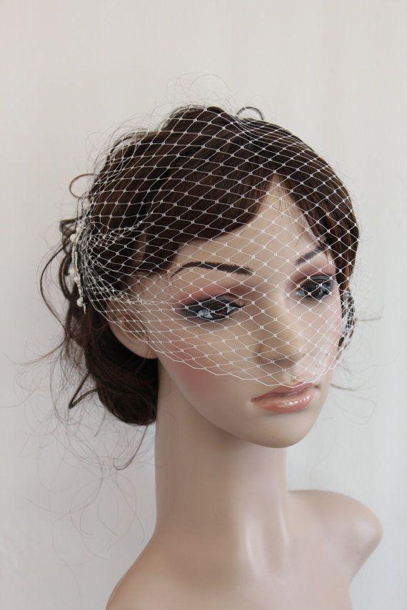 Wedding Veil Birdcage Bridal Blusher With Fascinators Headpiece