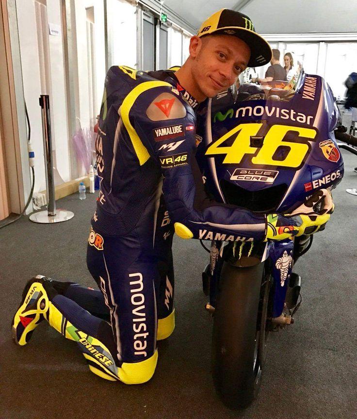 Valentino Rossi and his lady.  MotoGP 2017 Yamaha M1 (@YamahaYellow46) | Twitter