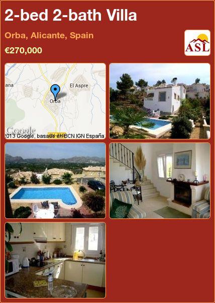 2-bed 2-bath Villa in Orba, Alicante, Spain ►€270,000 #PropertyForSaleInSpain