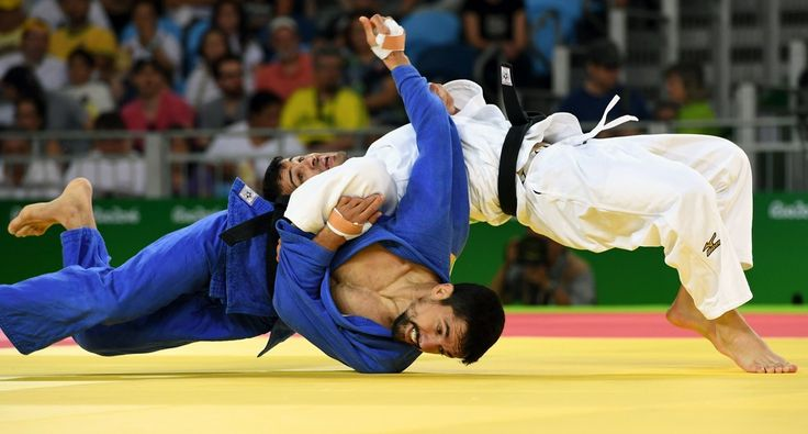 DAY 1:  Men's Judo - Sergio Pessoa of Canada vs Amiran Painashvili of Georgia
