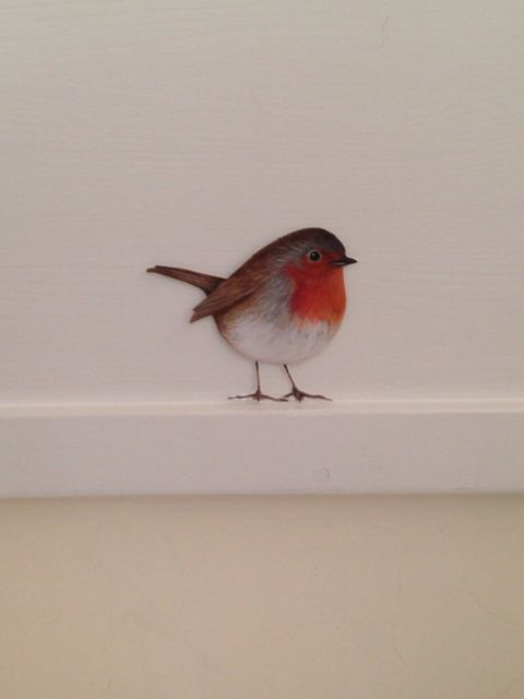 The ORIGINAL Bob Robin (permanent) wall sticker from PAWS by Sue McLearie